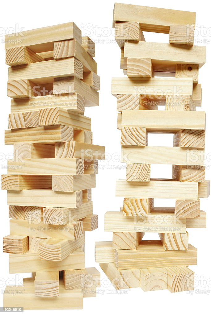 Woodblock Towers royalty-free stock photo