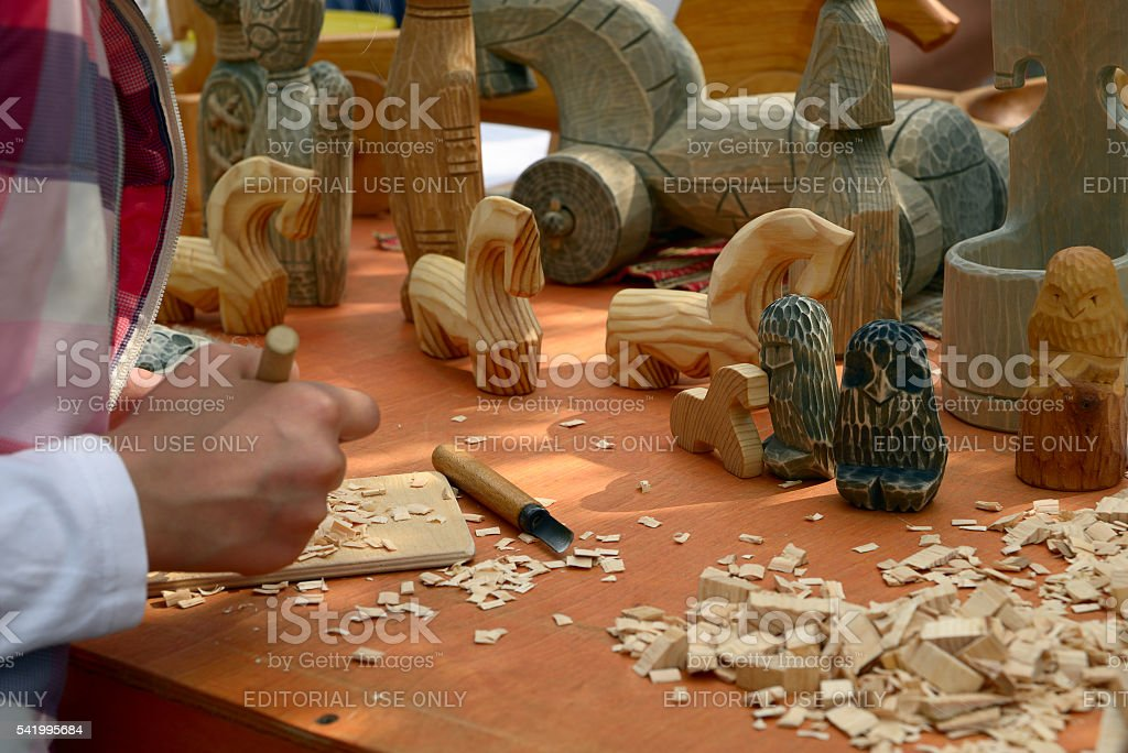 Woodcarving stock photo