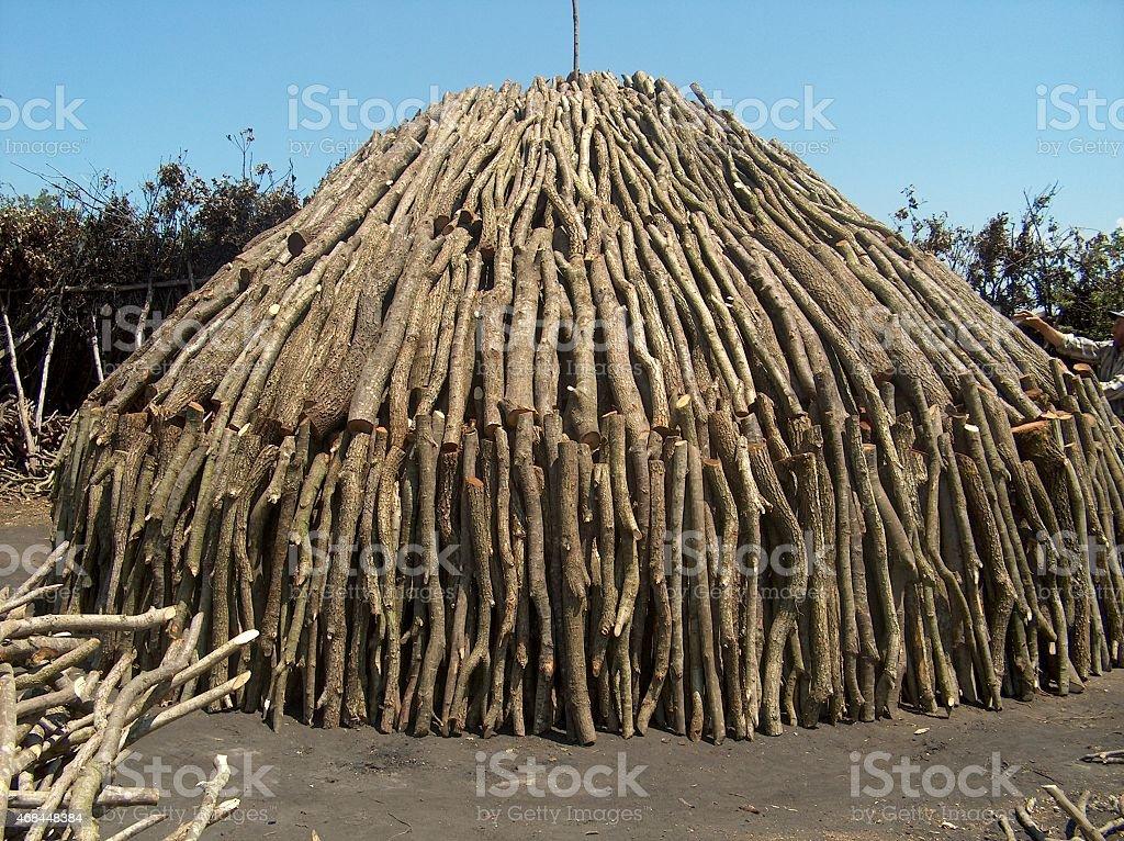 woodcoal stock photo