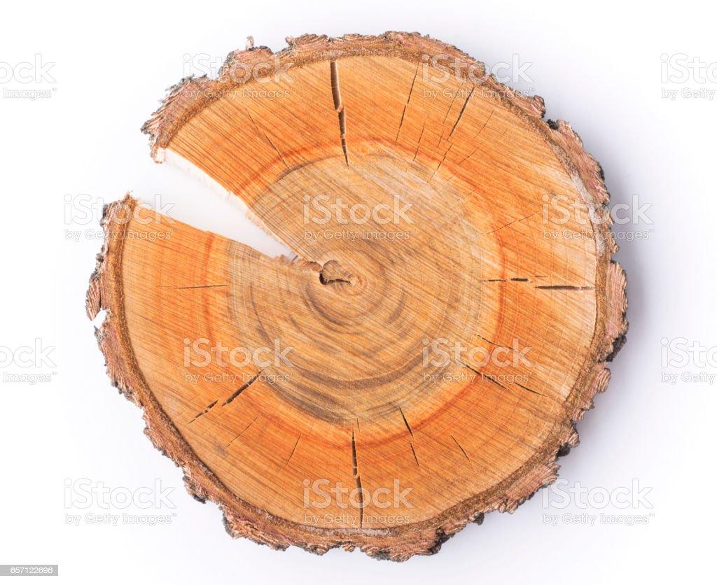 woodcut cracked slice stock photo