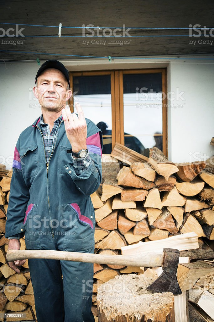 woodcutting accident royalty-free stock photo