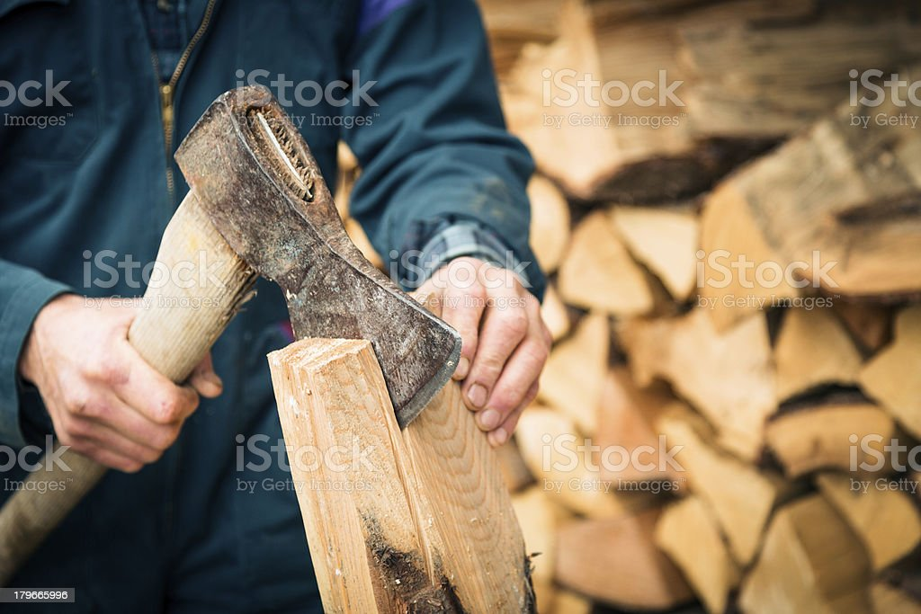 woodcutting royalty-free stock photo