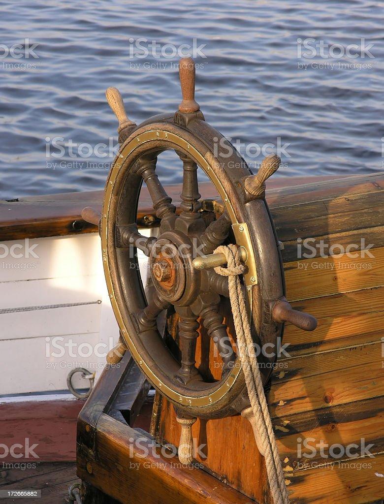 Woodden rudder royalty-free stock photo