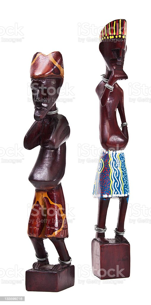 Wooden african figurine royalty-free stock photo