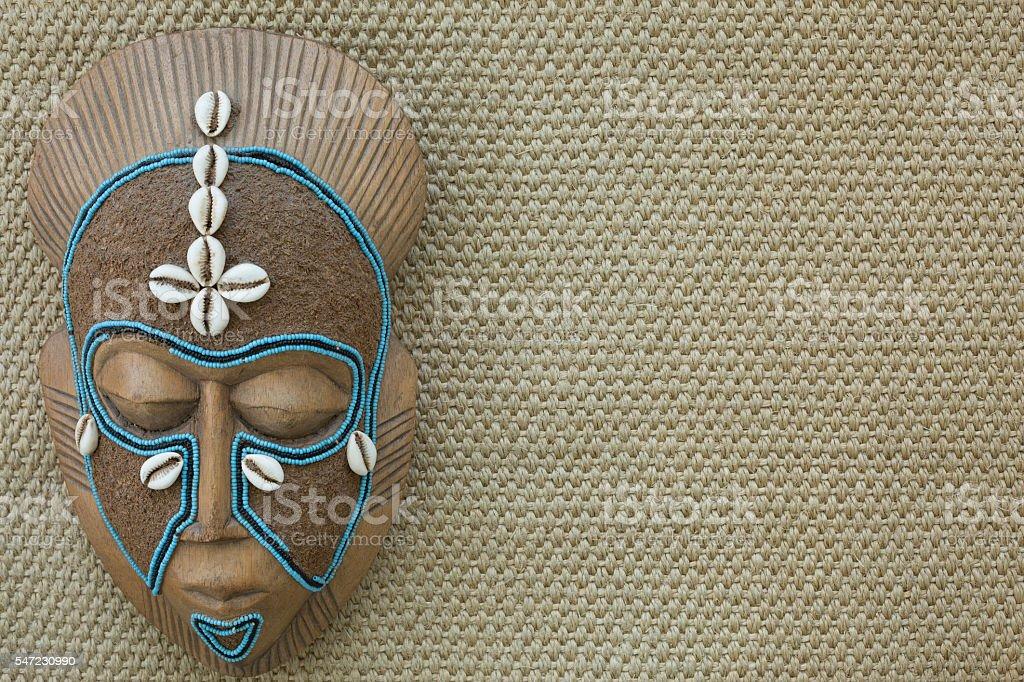 Máscara de madeira africana foto royalty-free
