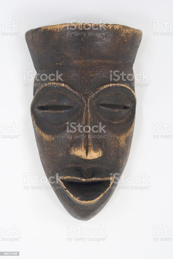 Wooden African Mask royalty-free stock photo