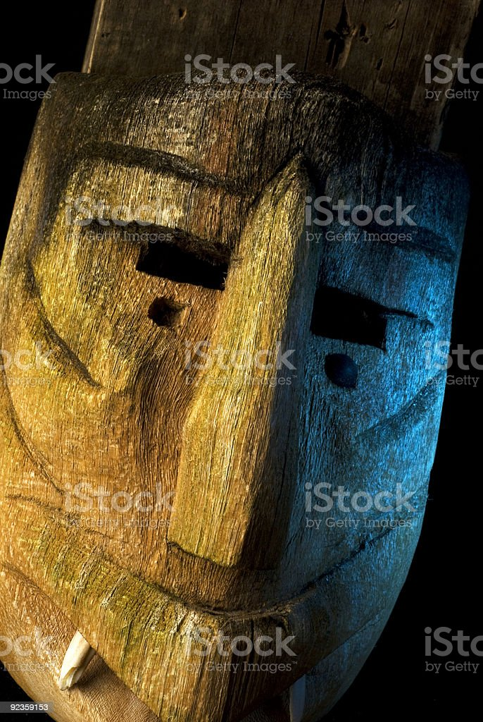 Wooden African Mask-1 stock photo