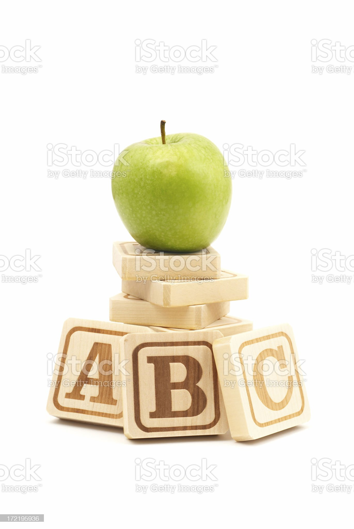 Wooden Alphabet Blocks royalty-free stock photo