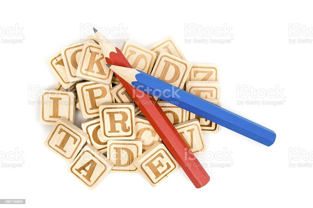 Wooden Alphabet Blocks royalty-free stock photo