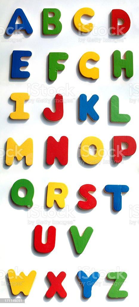 Wooden Alphabet stock photo
