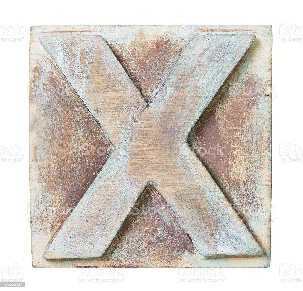Wooden alphabet royalty-free stock photo