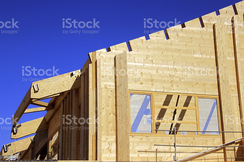Wooden architecture stock photo