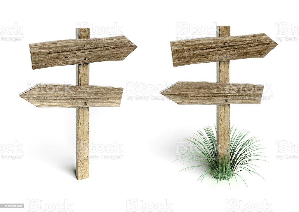 Wooden arrow royalty-free stock photo