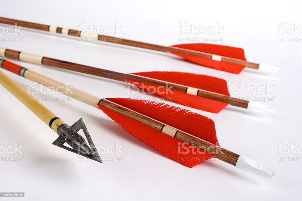 Wooden arrows royalty-free stock photo
