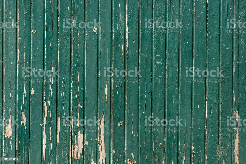 Wooden background with weathered paint stock photo