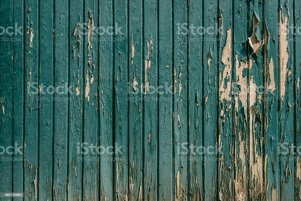 Wooden background with worn paint stock photo