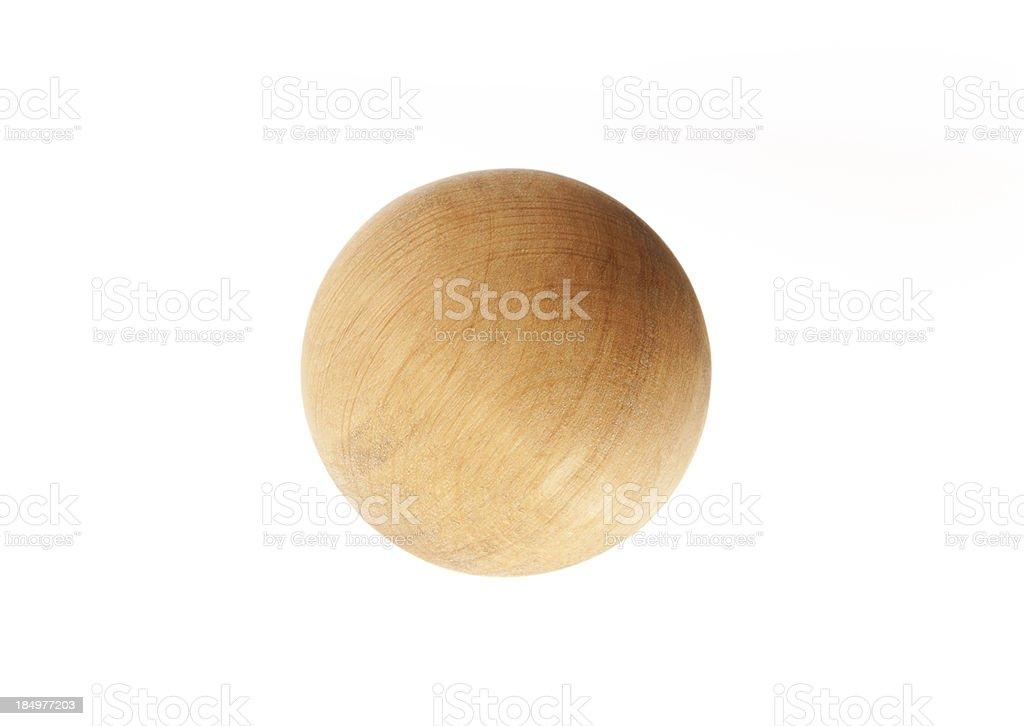 wooden ball stock photo