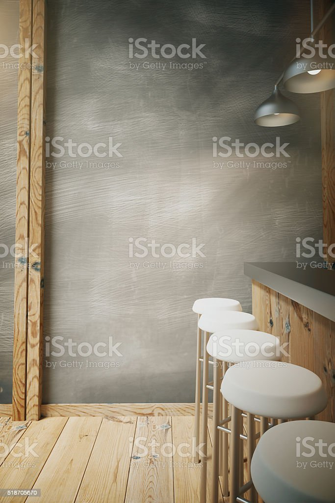 Wooden bar side stock photo