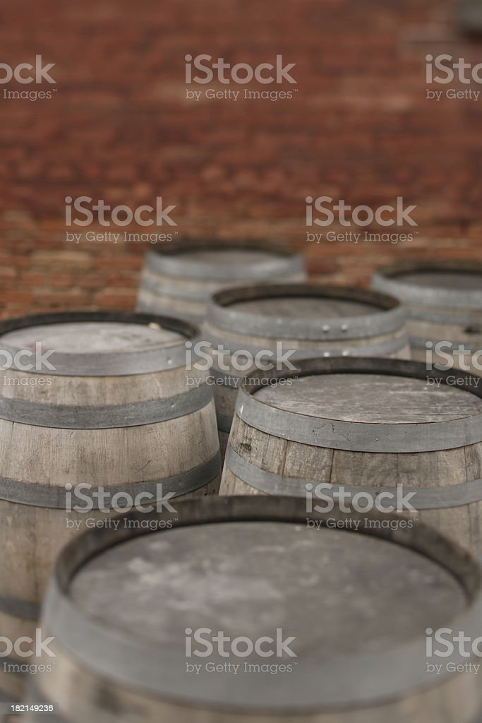 wooden barels royalty-free stock photo