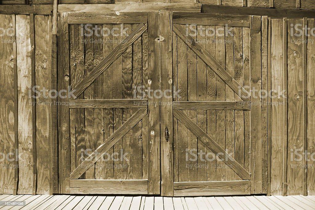 Wooden Barn Doors stock photo