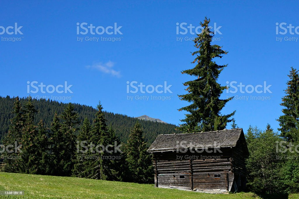 Wooden Barn royalty-free stock photo