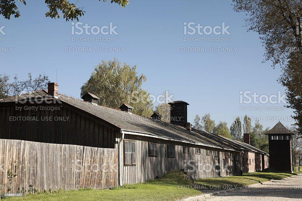 Wooden barrack Auschwitz-Birkenau royalty-free stock photo