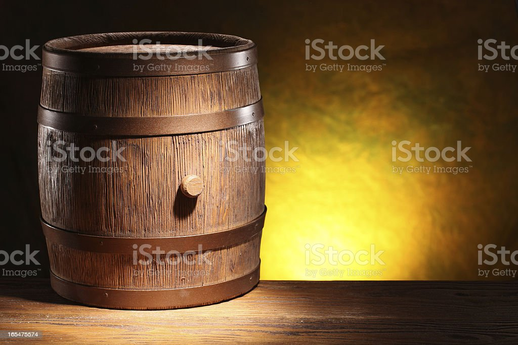 Wooden barrel. royalty-free stock photo