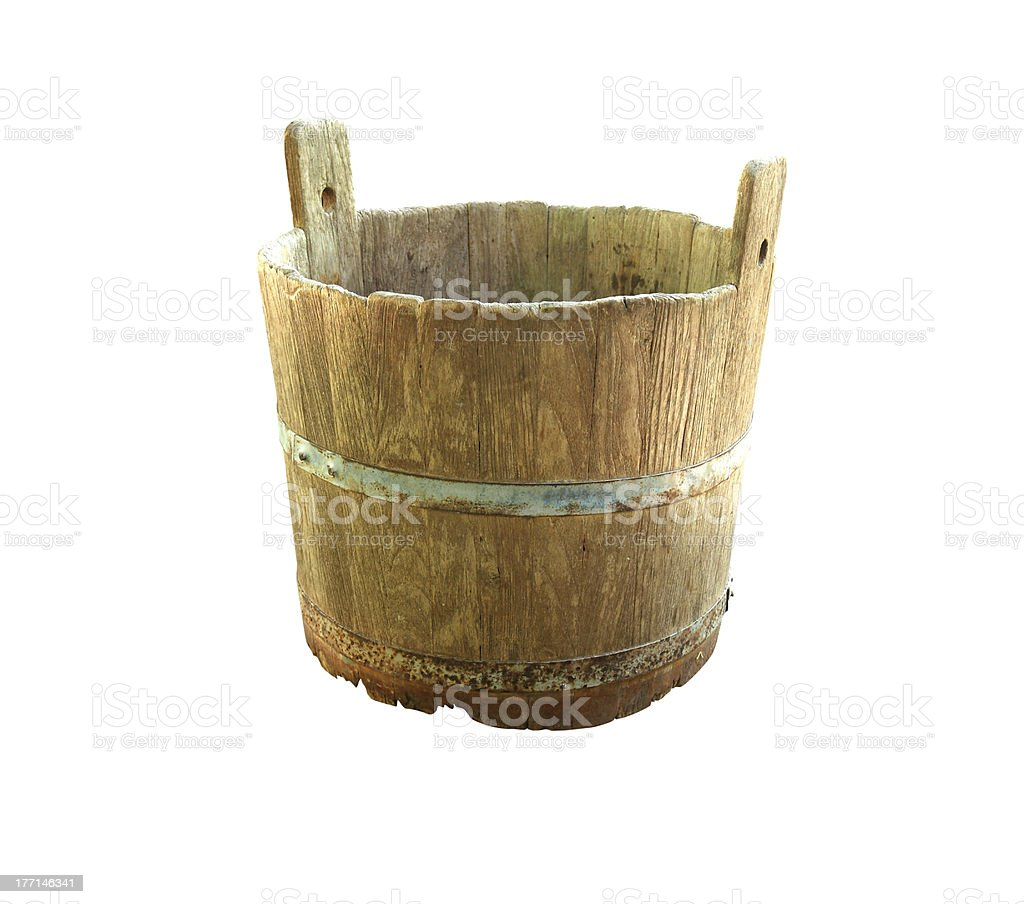 Wooden barrel royalty-free stock photo