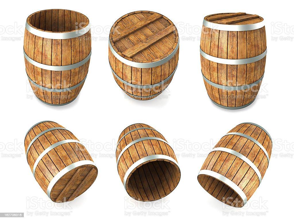 Wooden barrels royalty-free stock photo