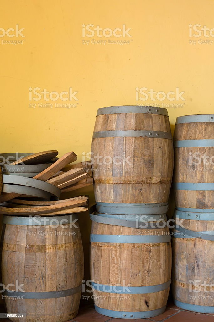Wooden barrels royalty-free stock photo