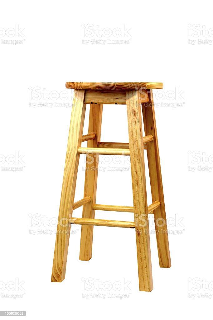 Wooden barstool stock photo