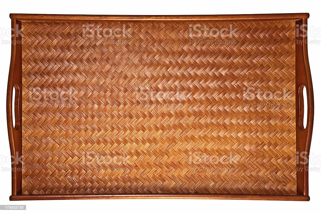Wooden Bed Tray royalty-free stock photo