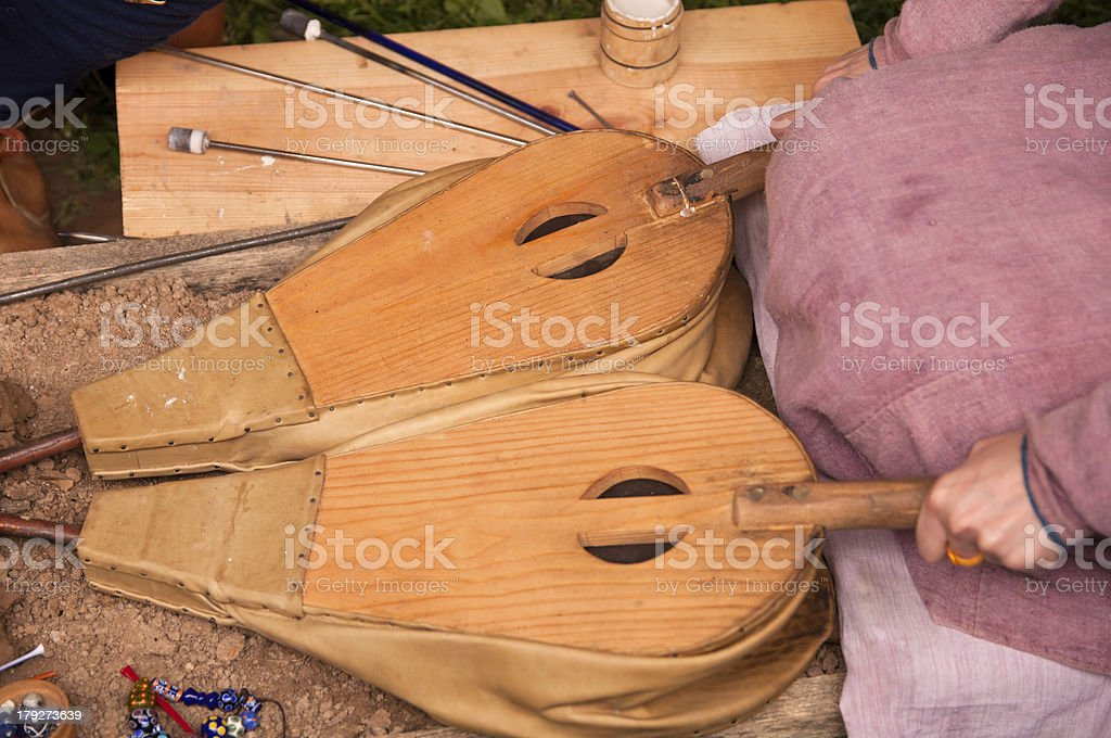 wooden bellows royalty-free stock photo