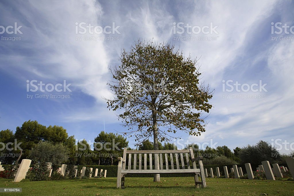 wooden bench royalty-free stock photo