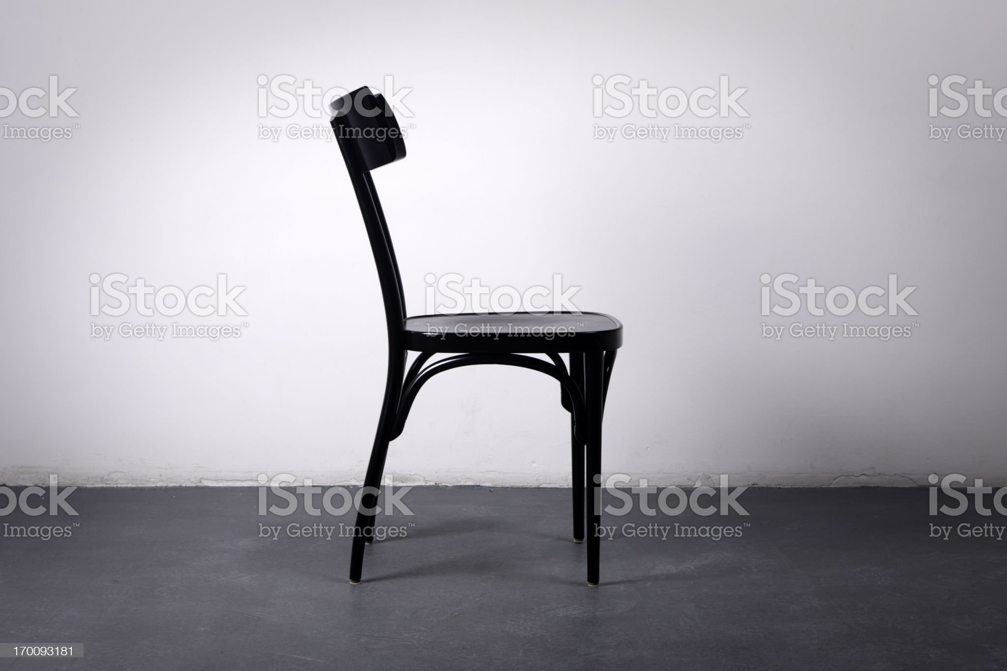 Wooden Black Chair royalty-free stock photo