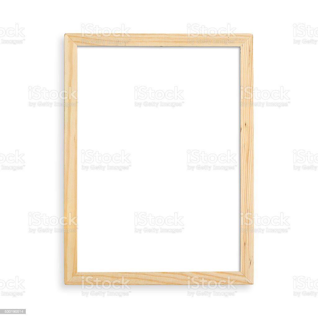 Wooden blank frame stock photo