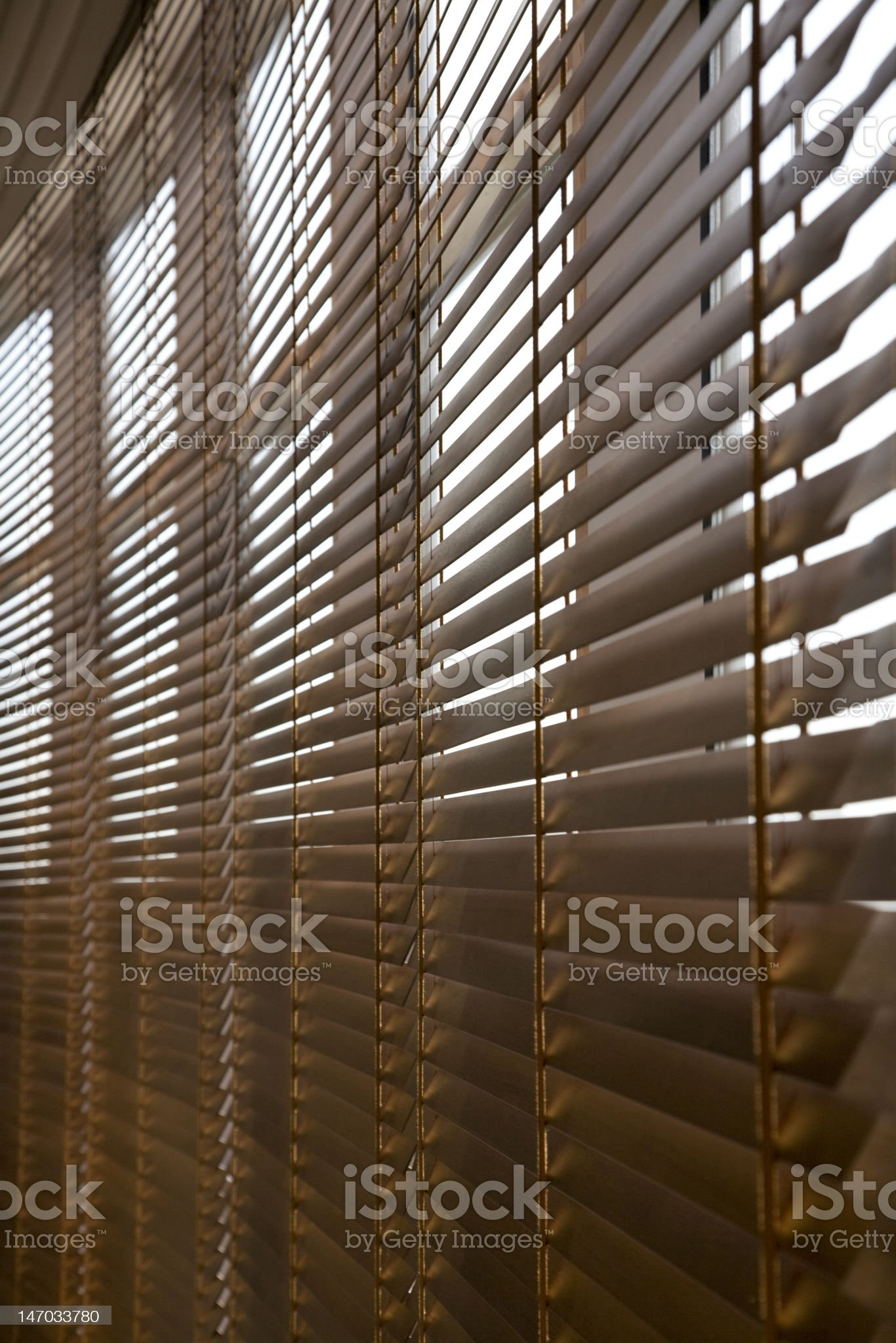 Wooden Blinds. royalty-free stock photo
