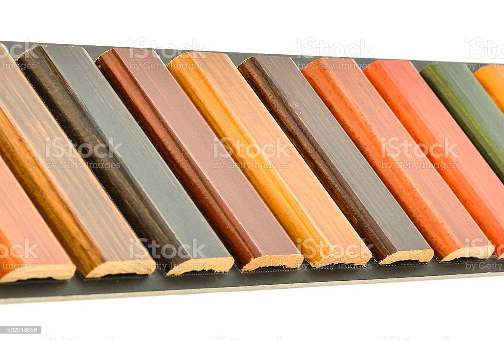 Wooden Blinds Samples Choice stock photo