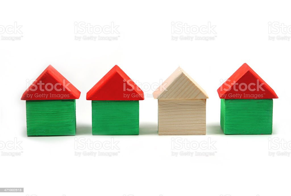 Wooden Block Houses - Stand Out stock photo