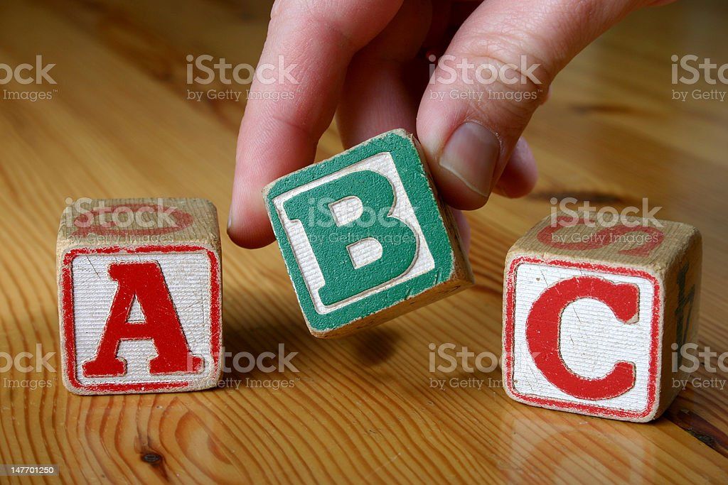 Wooden block letters royalty-free stock photo