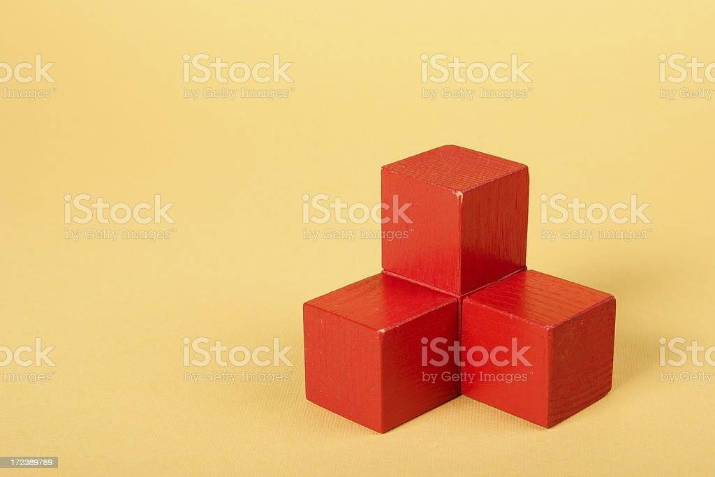 wooden block (red) royalty-free stock photo