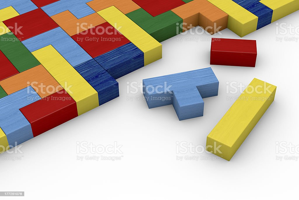 wooden block puzzle royalty-free stock photo