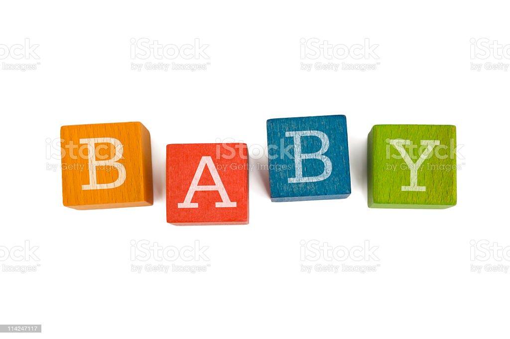 'BABY' wooden blocks royalty-free stock photo