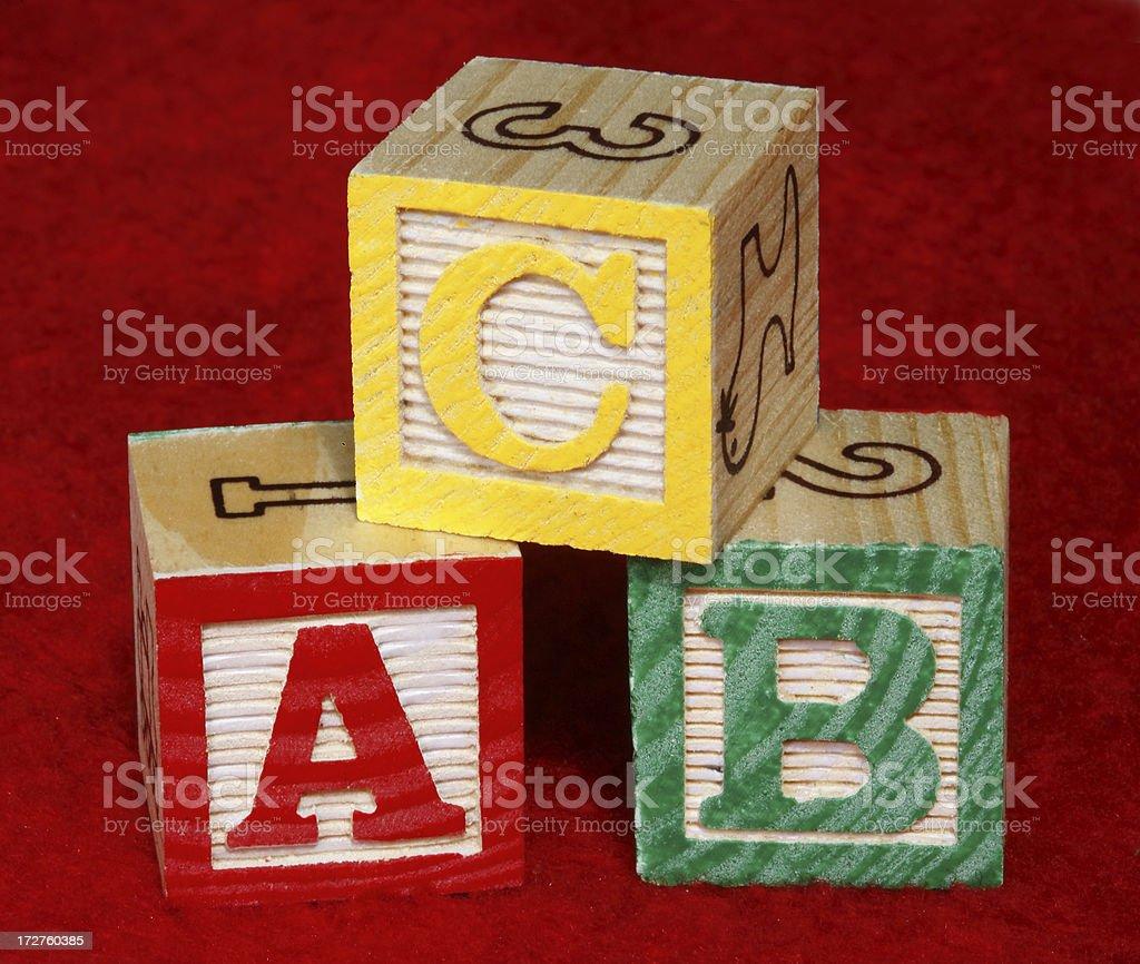 ABC Wooden blocks royalty-free stock photo