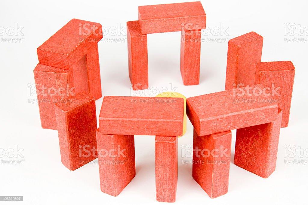 wooden blocks royalty-free stock photo