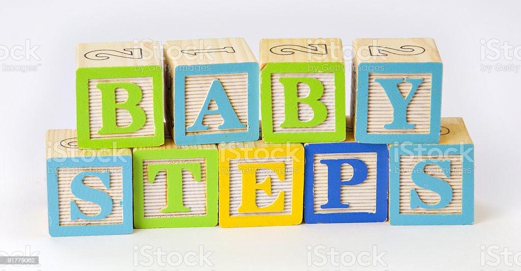 압살했다 블록 단어추가 아기 단계를 royalty-free 스톡 사진