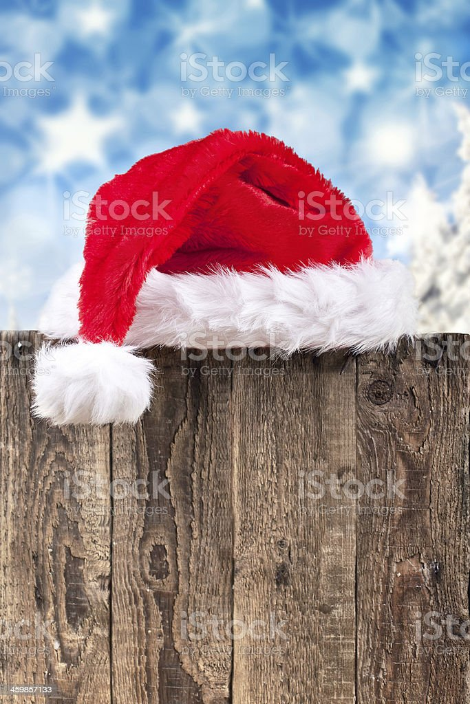 wooden board for christmas wish list royalty-free stock photo