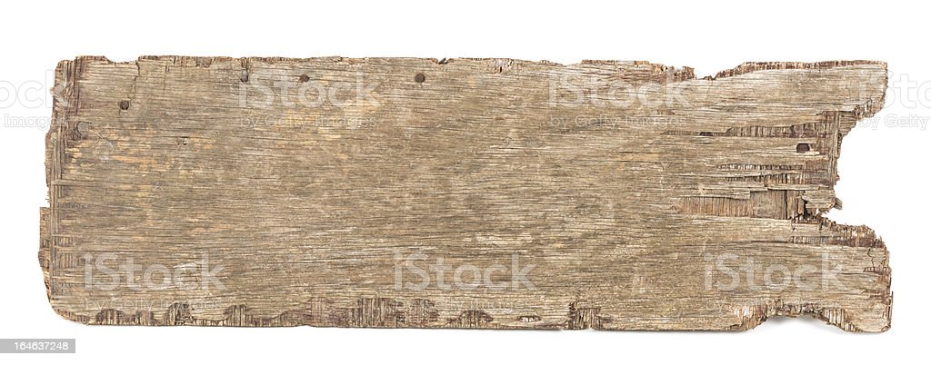 Wooden board isolated royalty-free stock photo