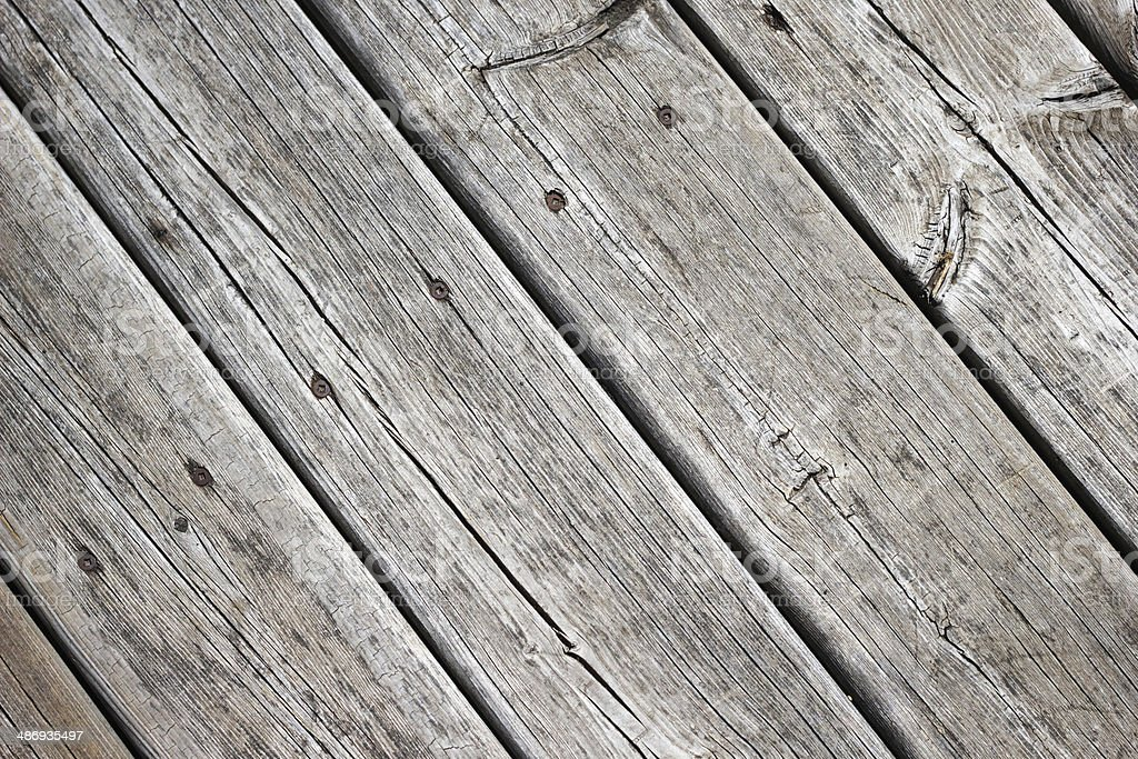 Wooden boards and nails stock photo