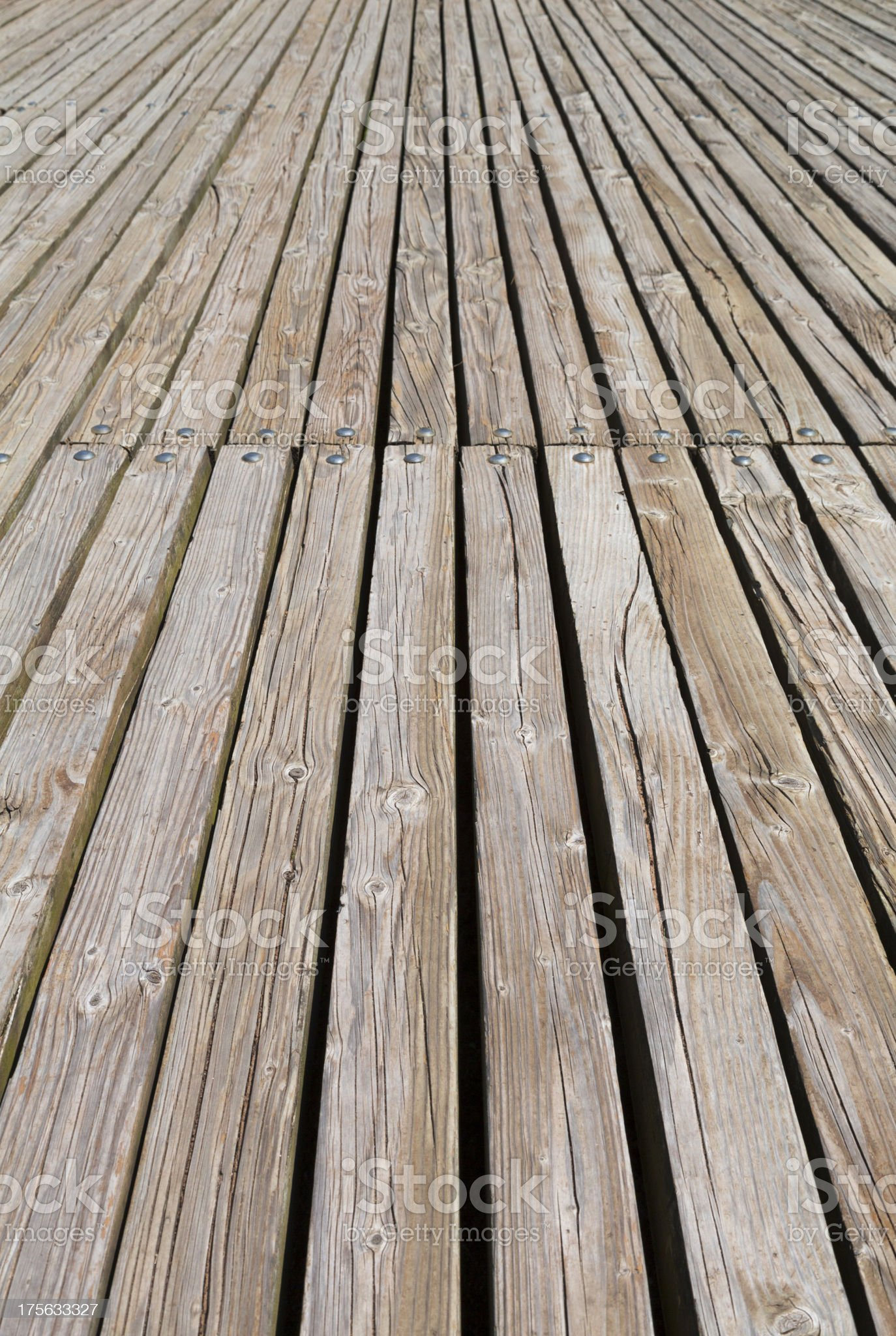 wooden boardwalk royalty-free stock photo